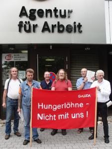 Darmstadt: GALIDA - Protest gegen Zeitarbeit vor Agentur für Arbeit