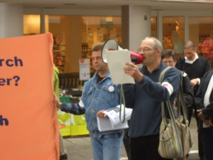 GALIDA - Kundgebung vor Tegut Darmstadt