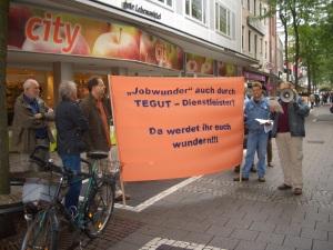 GALIDA - Protest vor Tegut Darmstadt