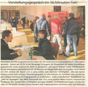 Bessunger Neue Nachrichten 29.10.2010 Job Speed Dating