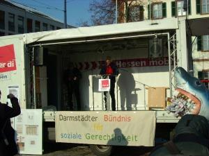 Helmut Angelbeck, GALIDA am 04.12.2010, Luisenplatz Darmstadt