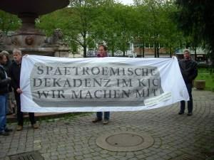 Marburger Erwerbslose solidarisieren sich mit den Römern