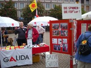 GALIDA-Infotisch am 01. Mai 2011, Marktplatz Darmstadt