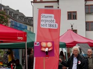 GALIDA - Aktion bei der SPD am 1. Mai 2014 in Darmstadt