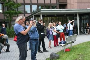 GALIDA-Aktion gegen sinnfreie Motivationsmaßnahmen vor der Agentur für Arbeit Darmstadt