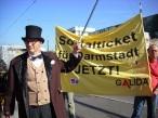 Darmstadt: GALIDA Datterich Aktion für die Einführung eines Sozialticktes am 25.09.2016