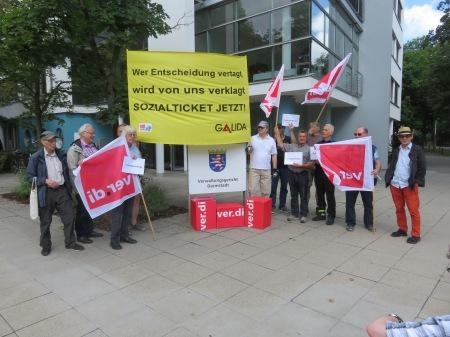 GALIDA-Aktion am 13.07.2017 vor dem Verwaltungsgericht Darmstadt