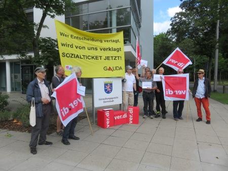 Mit dabei - der Verdi-Erwerbslosenausschuss Südhessen